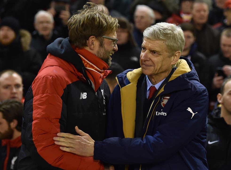 Klopp and Wenger will renew acquaintances at the Emirates