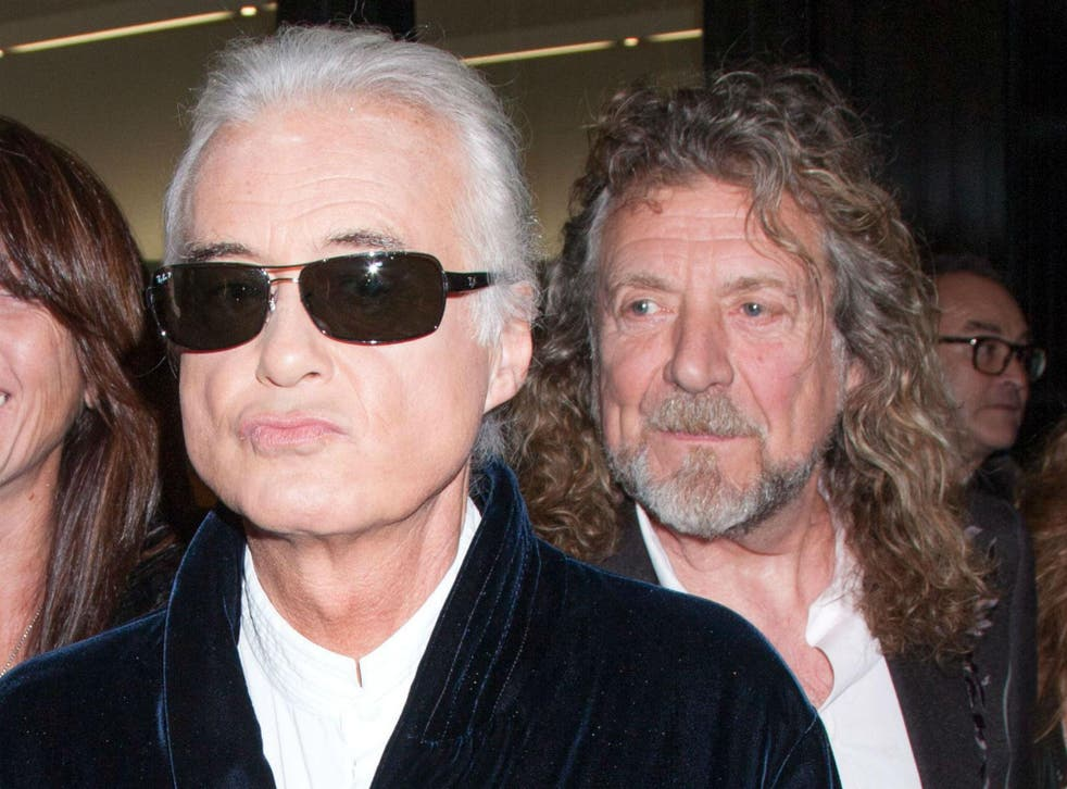 Led Zeppelin guitarist Jimmy Page and frontman Robert Plant, here attending a film premiere in 2012