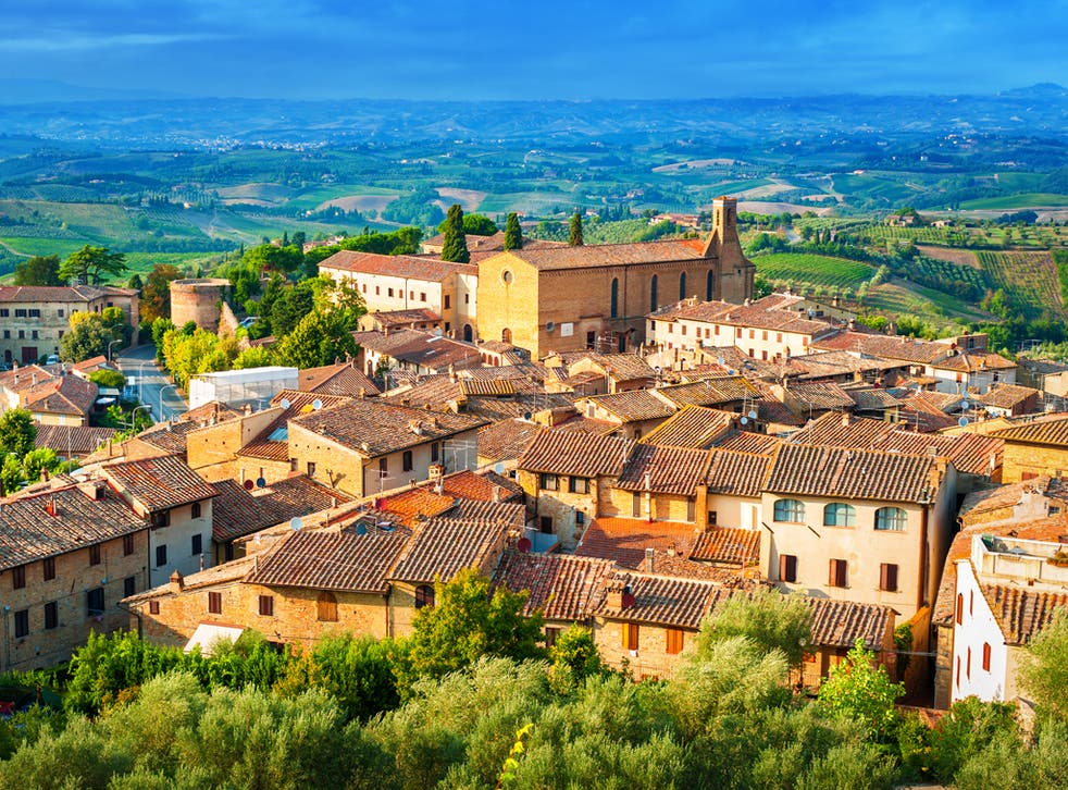 The medieval Tuscan town of San Gimignano