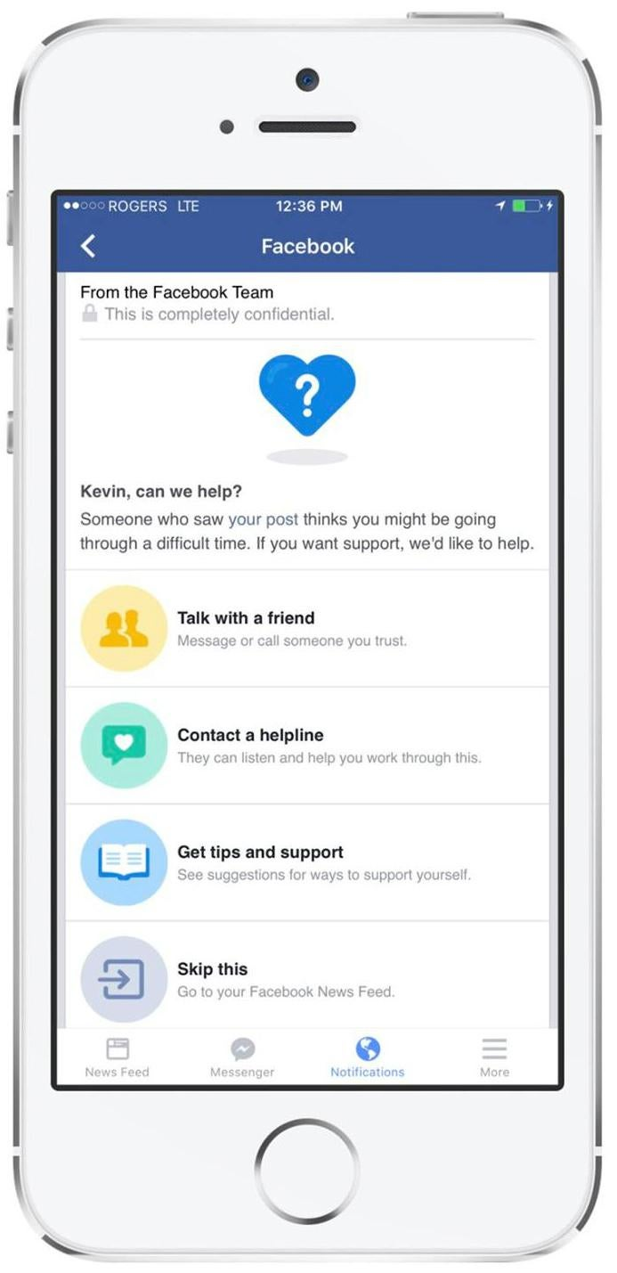 Facebook suicide prevention tool lets you flag friends