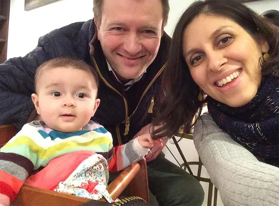 Nazanin Zaghari-Ratcliffe with husband Richard and daughter Gabriella