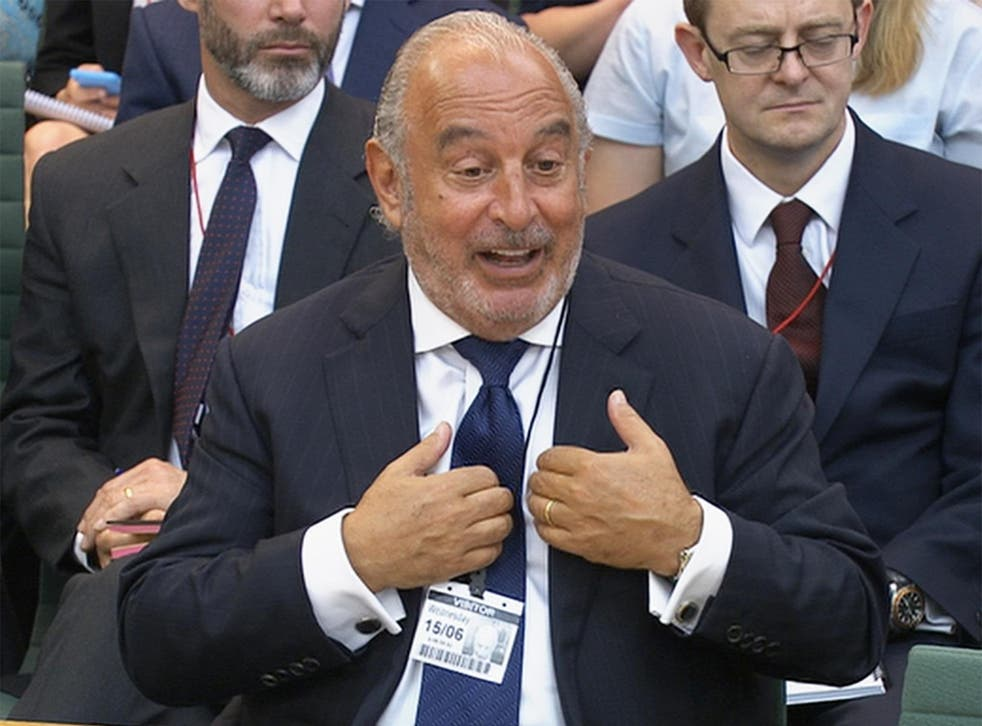 Philip Green answers MPs' questions about the collapse of BHS