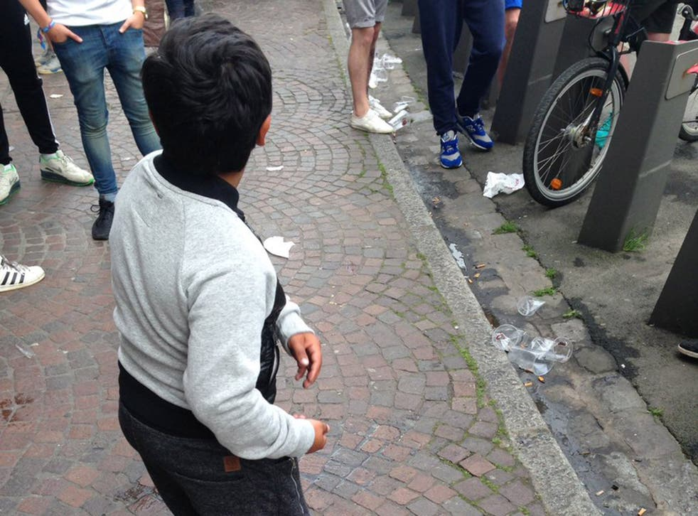 A young boy was said to have been made to drink beer by England fans in exchange for money