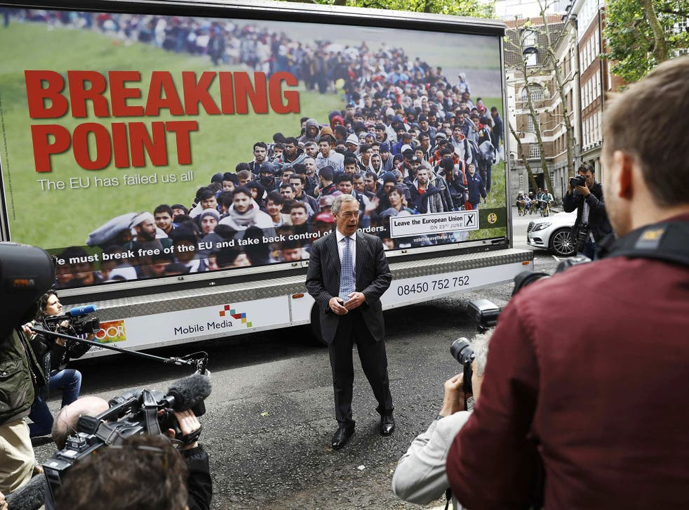 Ukip leader Nigel Farage has been heavily criticised for the 'Breaking Point' poster