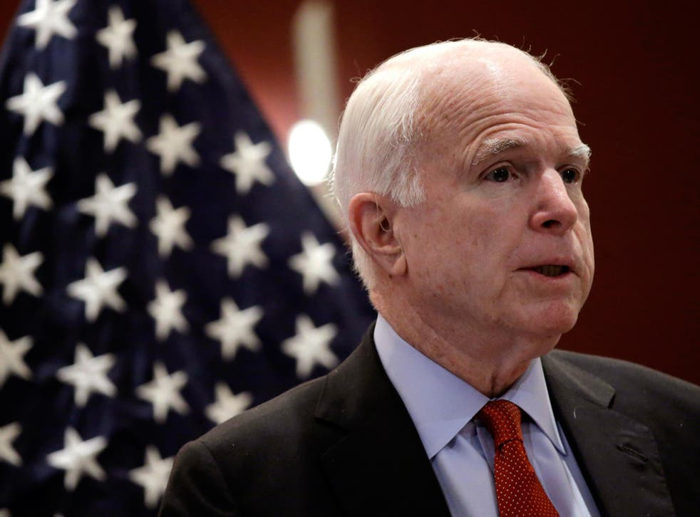 John McCain said he backed plans to cut US funding to the United Nations