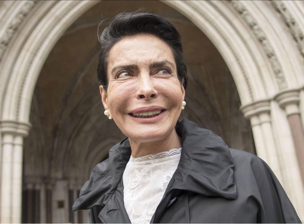 Saudi King's secret wife Janan Harb at London's High Court on 17 May 2016