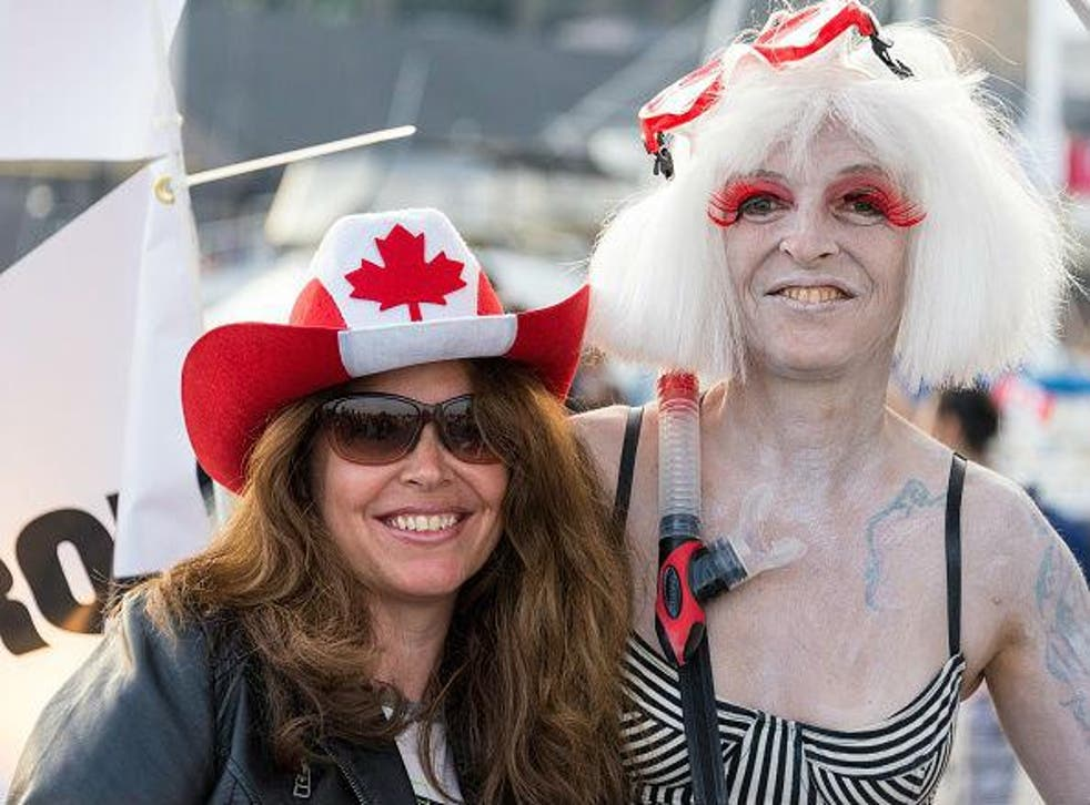 People of all genders celebrating Canada Day in Toronto
