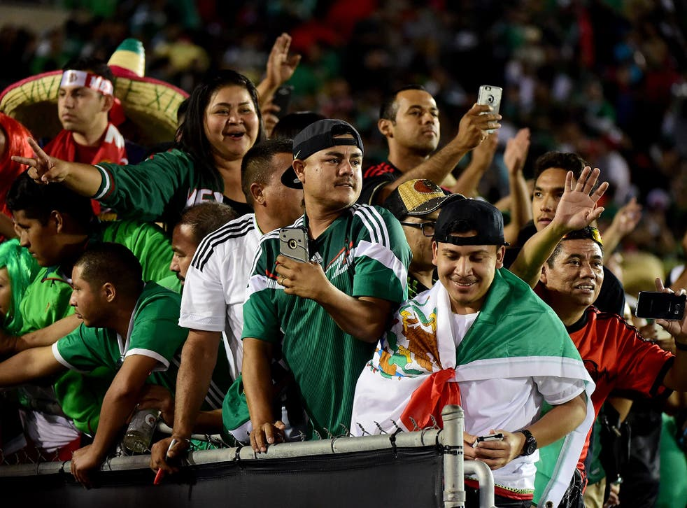 Mexico fans at the Copa America