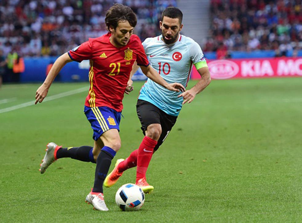 David Silva and Spain eased past Turkey and into the last sixteen (Getty)