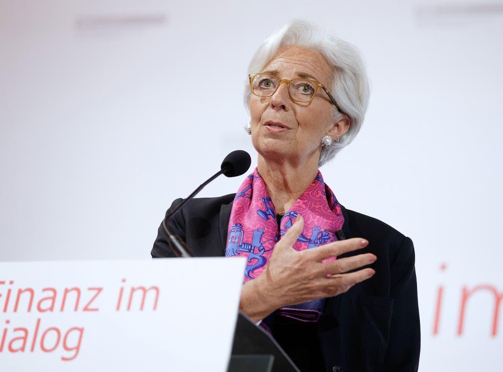 Christine Lagarde of the IMF