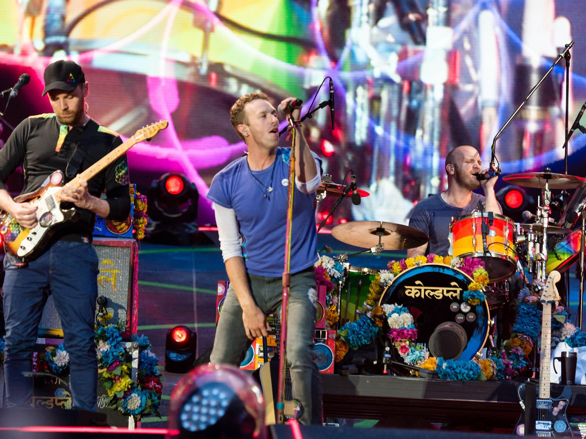 Coldplay wembley arena review rapturous reception for evergreen masters of the big occasion the independent