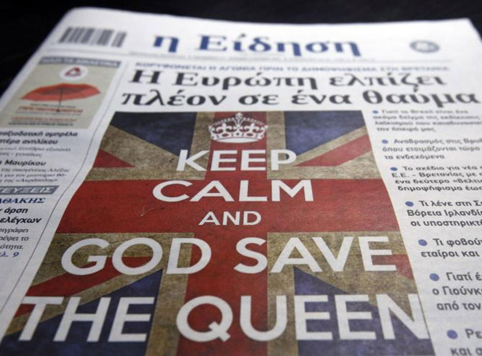 A Greek daily newspaper offers its take on the UK's potential split with Europe. Many analysts predict Brexit could spur other member states to hold their own referendums.