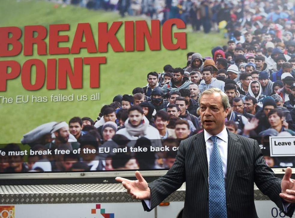 Nigel Farage has put immigration at the heart of his Leave campaigning