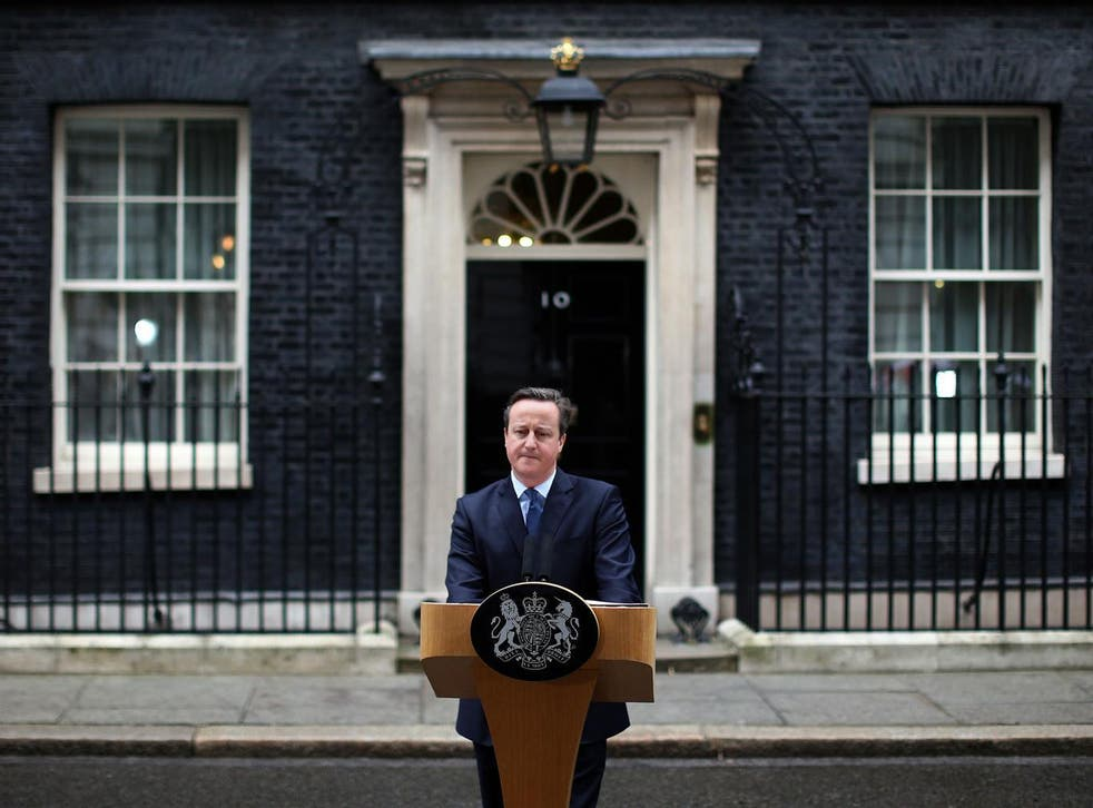 David Cameron will address the British public outside Downing Street on Friday, and will be under considerable pressure to resign if the referendum hasn't gone his way