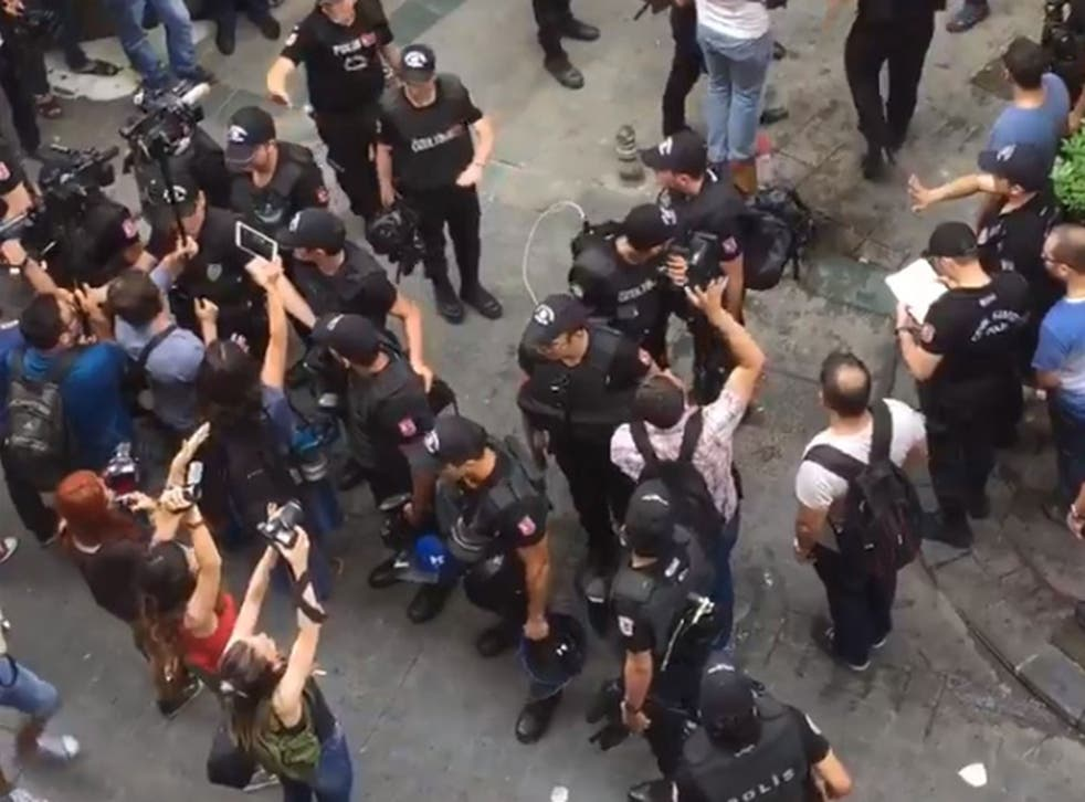 Activists say police have broken up the parade and detained 11 people