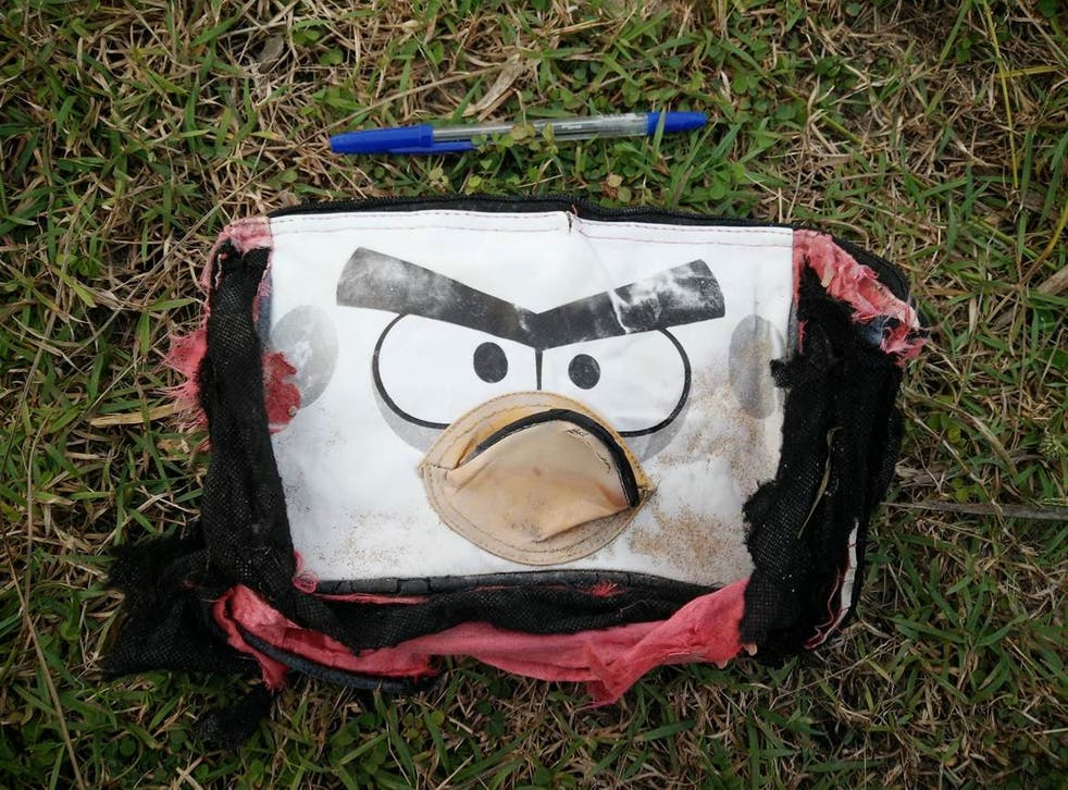 An Angry Birds bag recovered