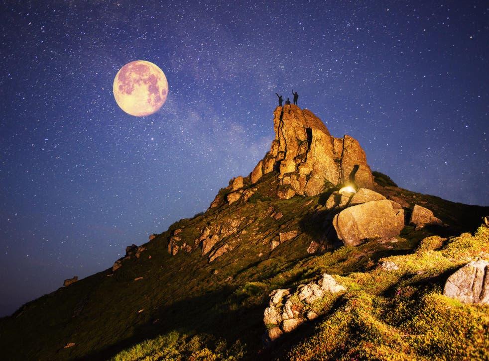 Viewing the night sky amid Sedona's dramatic, rock scenery