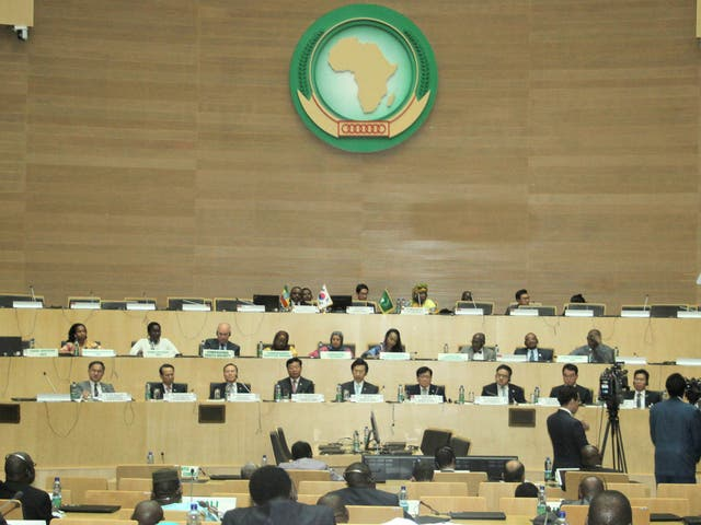 The African Union's headquarters in Addis Ababa Ethiopia