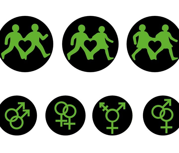 London Pride Gay And Trans Symbols Replace Green Man On Traffic