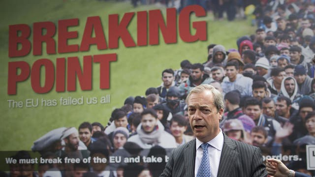 Party's latest EU election posters branded 'racist' and compared to BNP campaigns