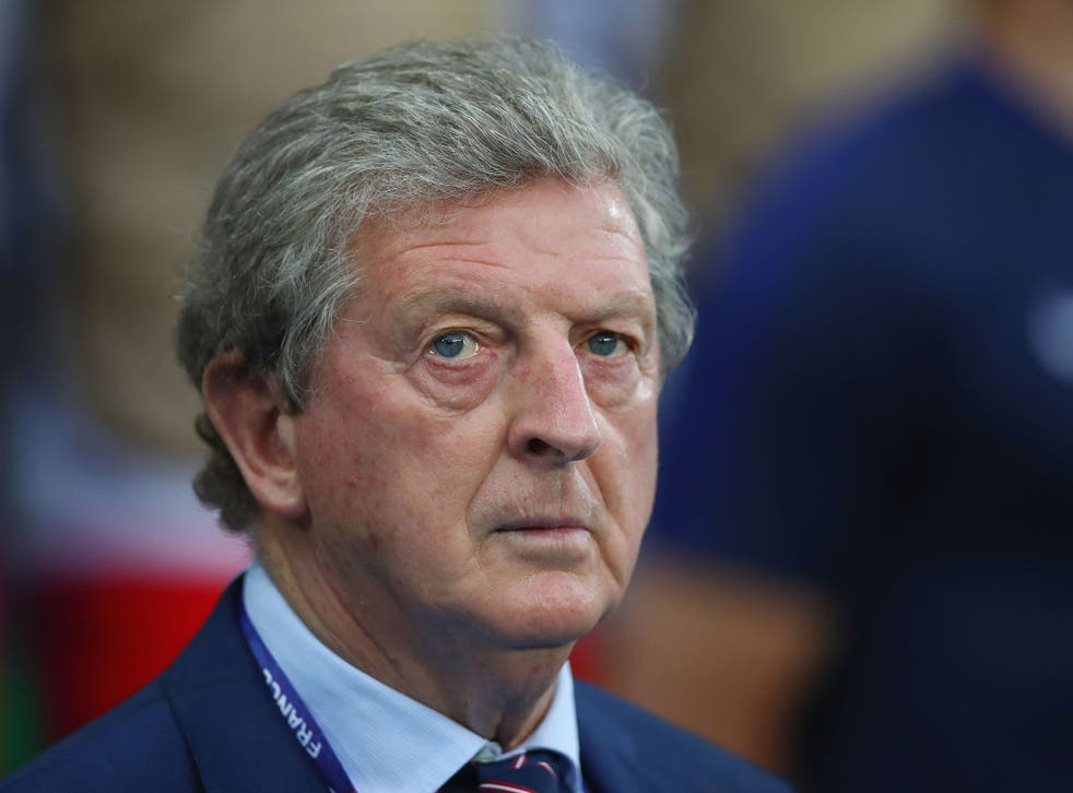 Roy Hodgson watches on during England's 0-0 draw with Slovakia