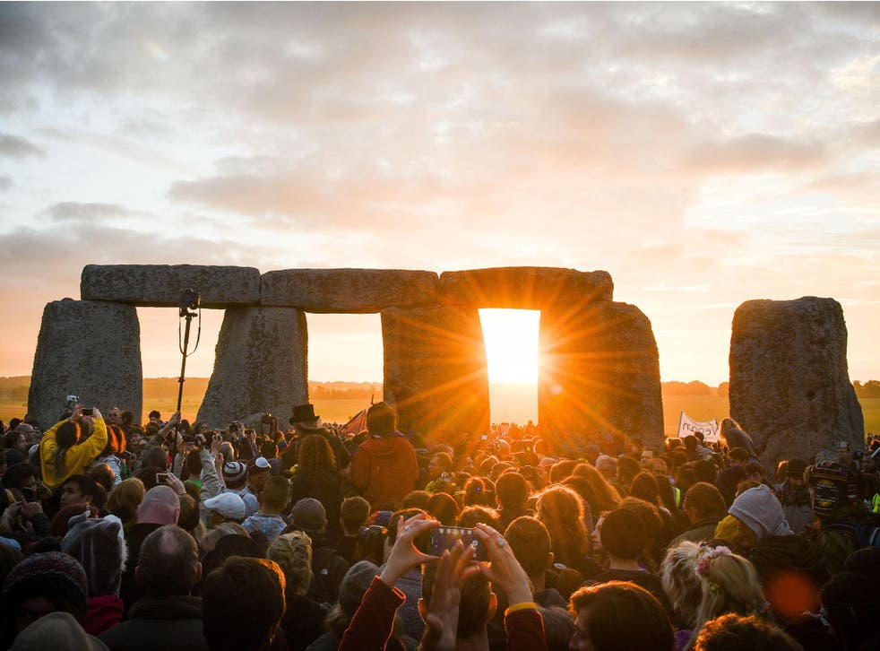 This year's summer solstice celebrations at Stonehenge