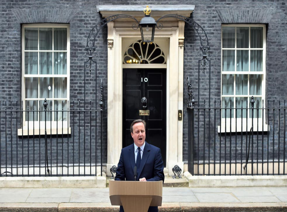 Prime Minister David Cameron delivers an EU referendum related speech in Downing Street, London.