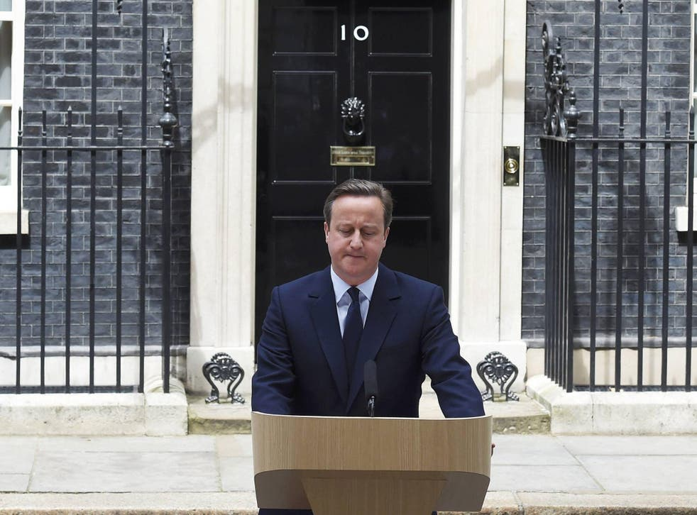 David Cameron makes an impromptu speech about Brexit outside 10 Downing Street