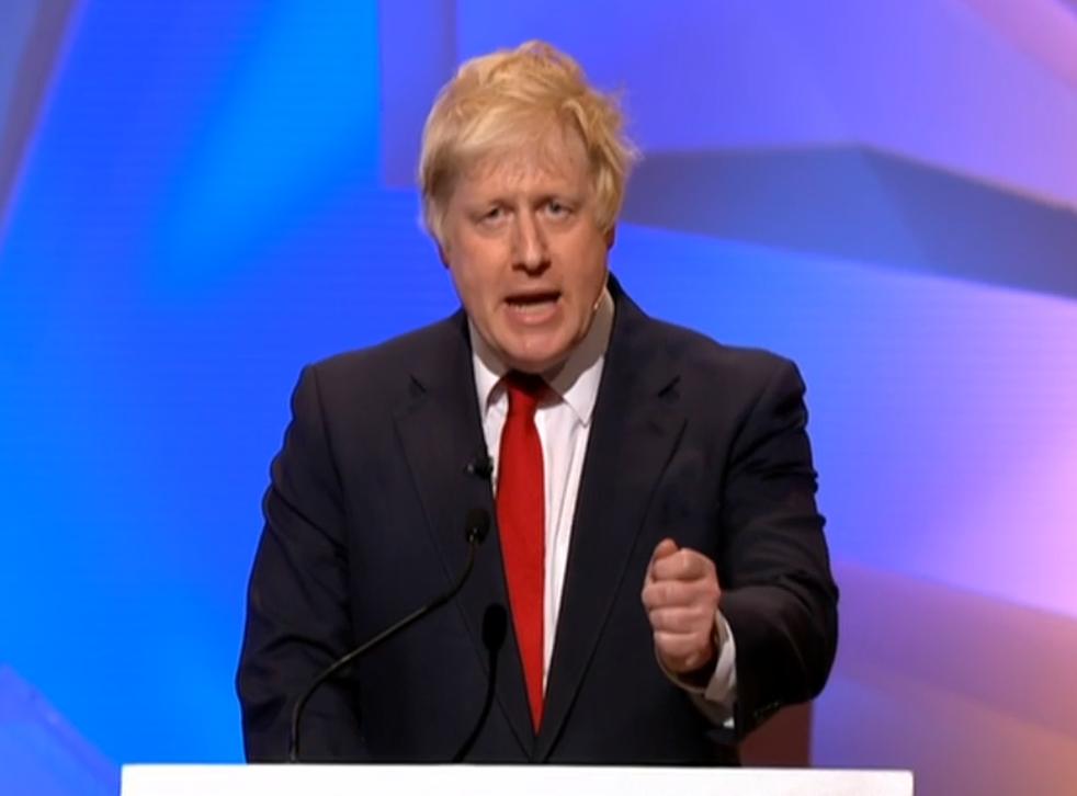 Boris Johnson at the Wembley debate