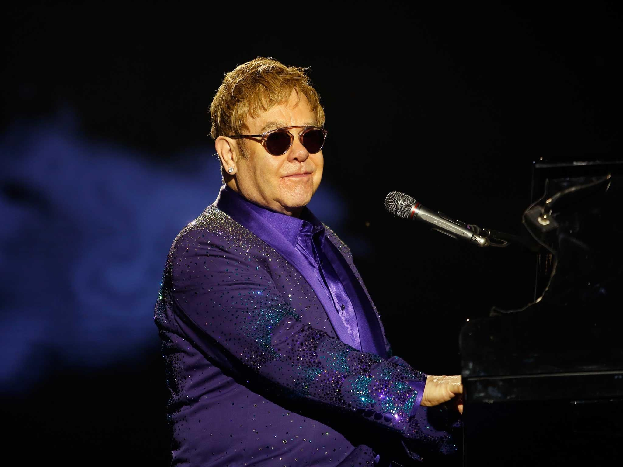 Elton John Forced To Cancel Us Tour After Being Taken Ill With Andrew Smith Classic Formal Shirt Cokelat S Potentially Deadly Infection The Independent