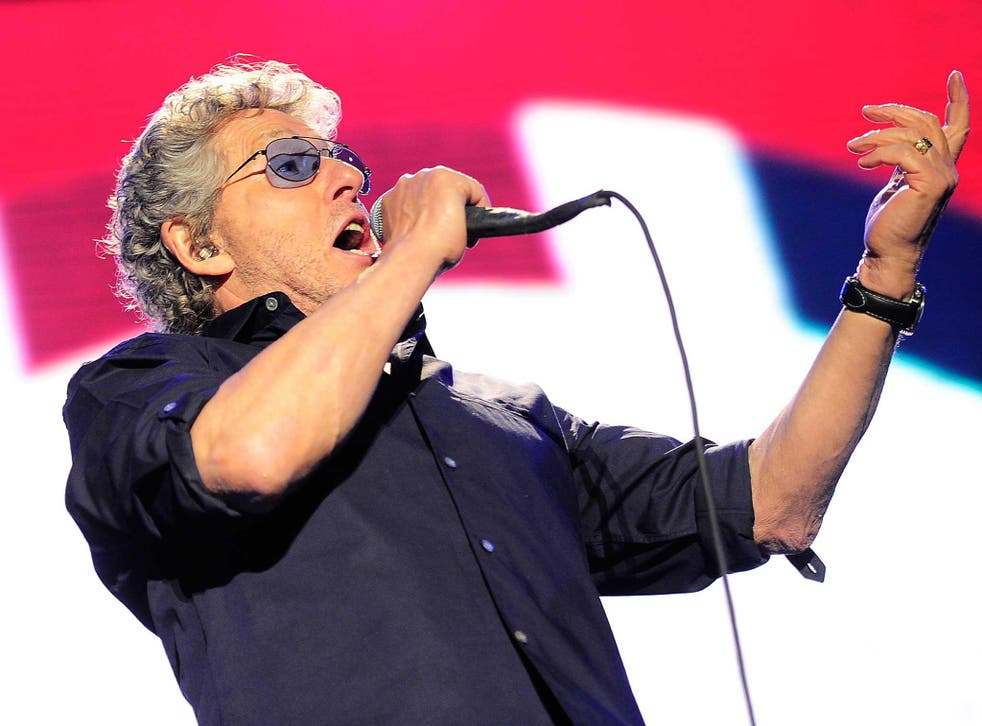 Roger Daltrey (left) and Pete Townsend of The Who at Glastonbury festival in 2015