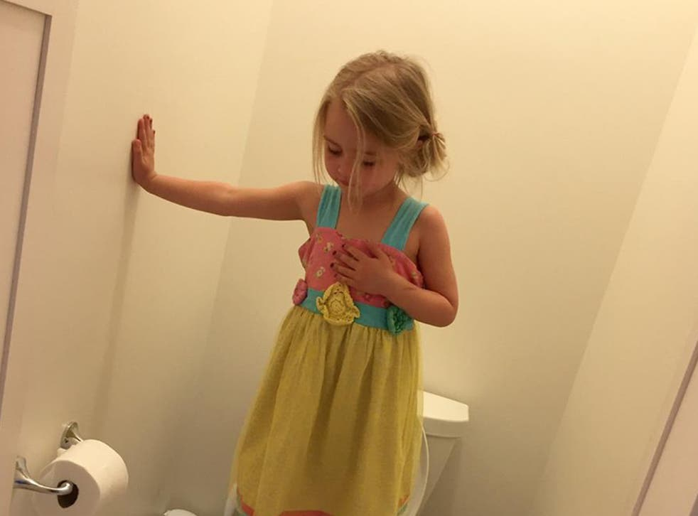The little girl was taught to do this if a gunman attacked her pre-school while she was in the toilets