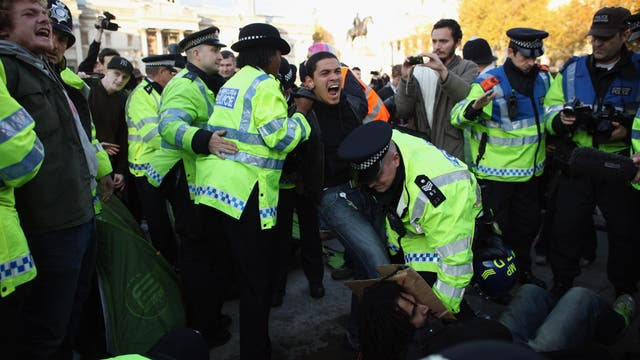 Hip-hop played a pivotal role in getting protesters' feeling across in 2011's tuition fee demonstrations, pictured