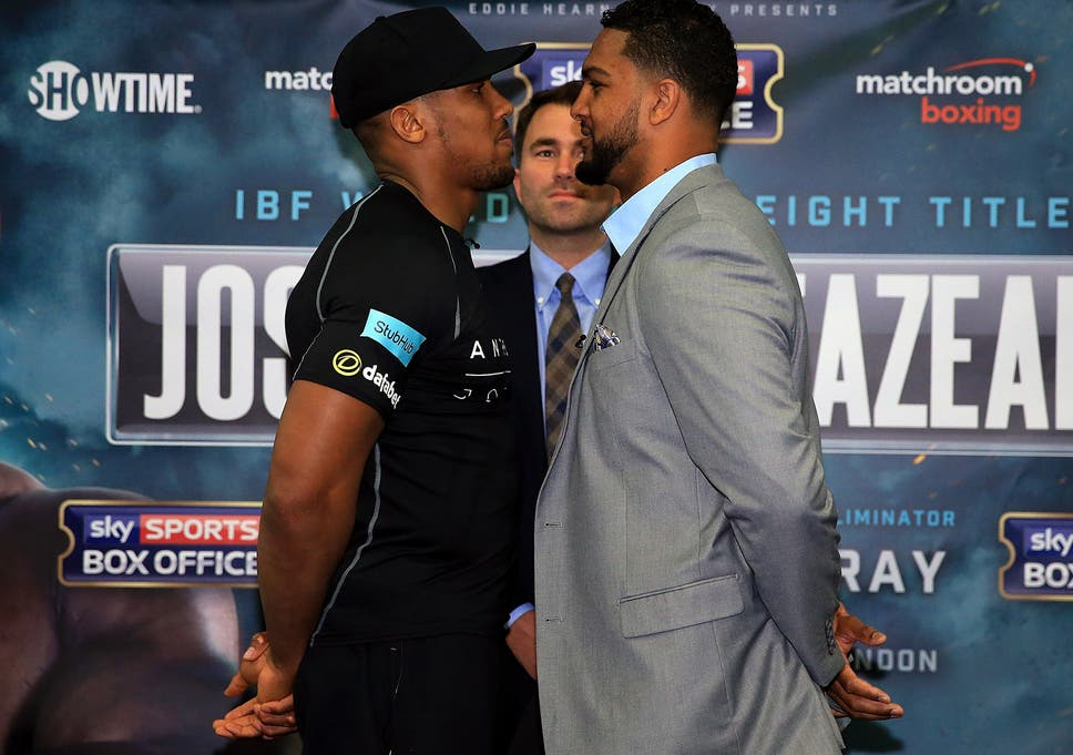 Anthony Joshua Vs Dominic Breazeale Joshua Back For Much Of The