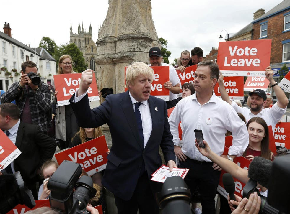 Vote Leave figurehead Boris Johnson is confident of his campaign's success ahead of polling day