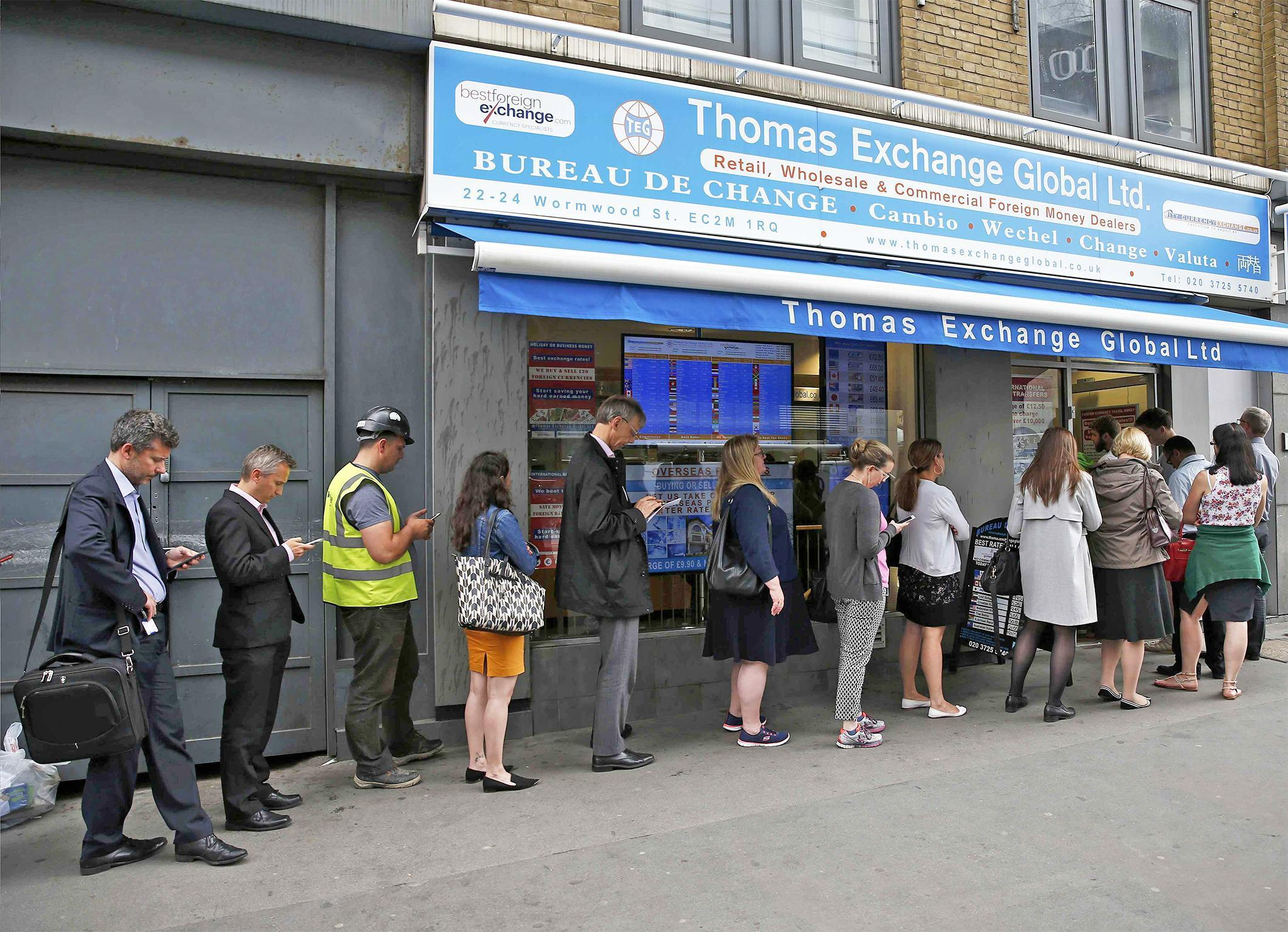 Currency exchanges see demand spike as britons panic buy foreign