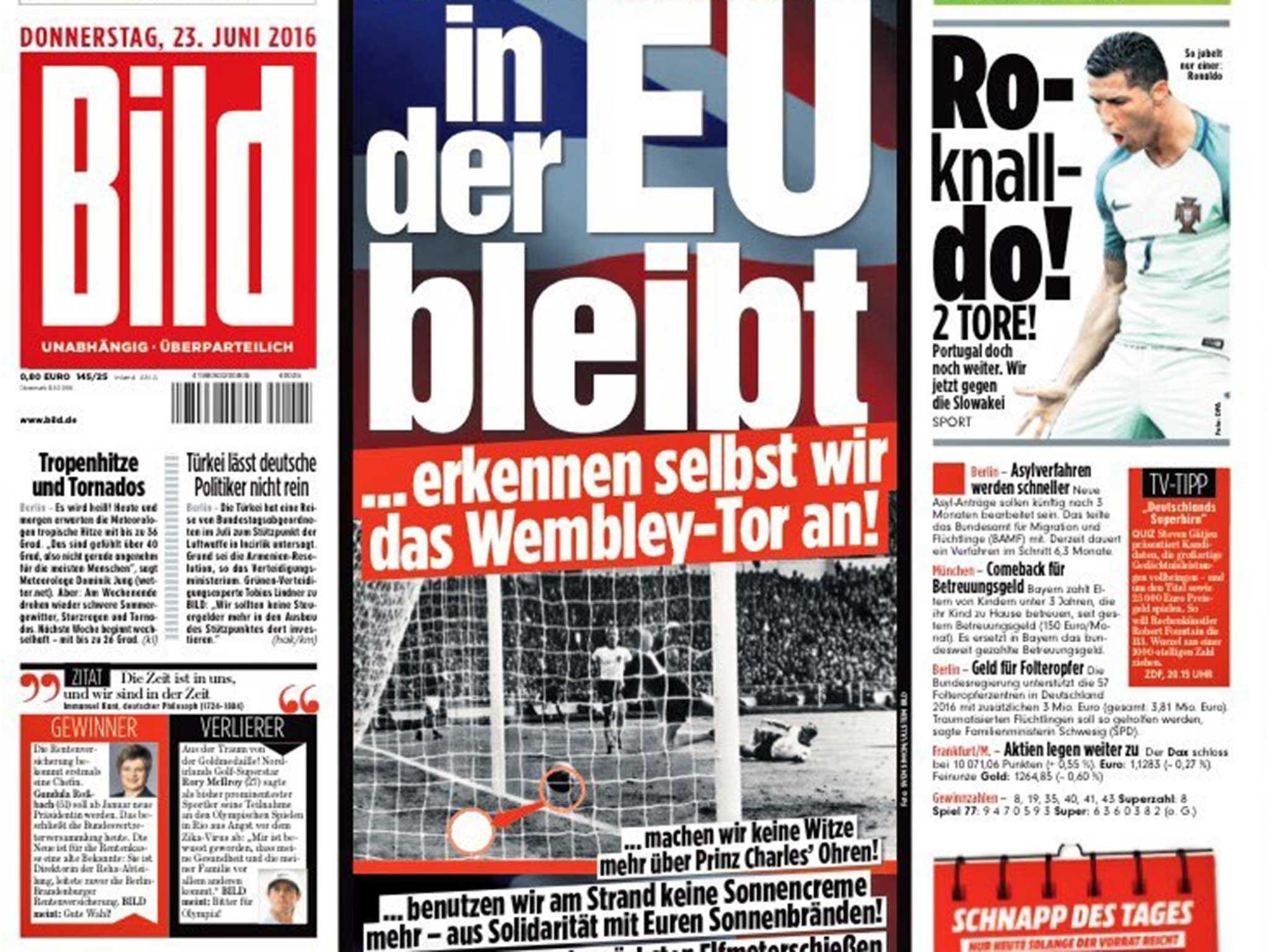 EU referendum: German newspaper Bild promises to accept ...  EU referendum: ...