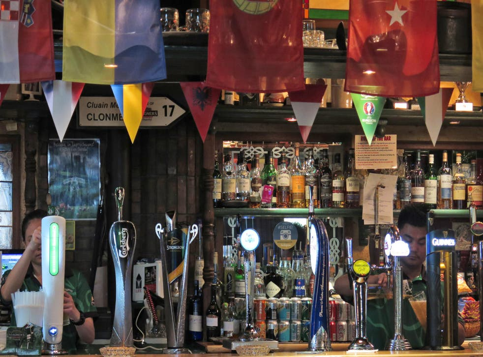 A Dubai bar catering to tourists and expats