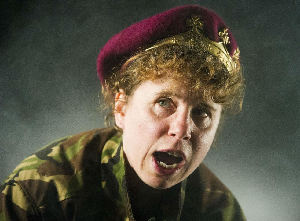 Michelle Terry as King Henry V at the Open Air Theatre, Regent's Park, London