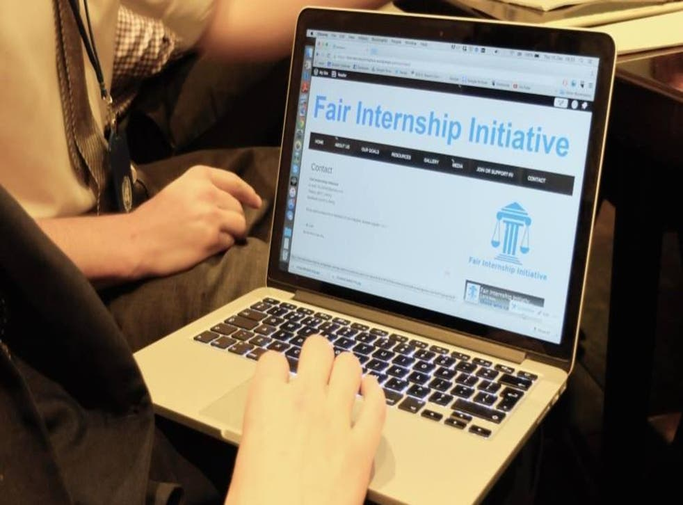 Interns groups like the Fair Internship Initiative, pictured, are increasingly organised and seek to document a growing movement