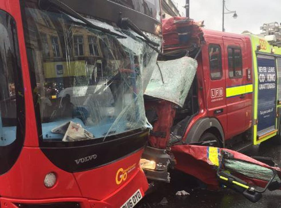 Seven people were injured in the crash