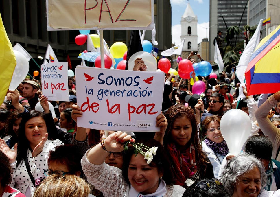 18712d25 The ceasefire sparked celebrations and tears of happiness in Bogota, the  Colombian capital