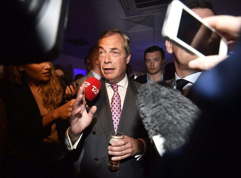 Nigel Farage said the Prime Minister should resign 'immediately'