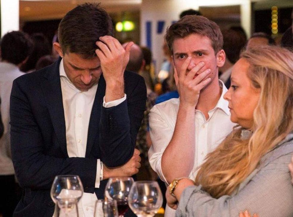 Remain campaigners react to the EU Referendum result