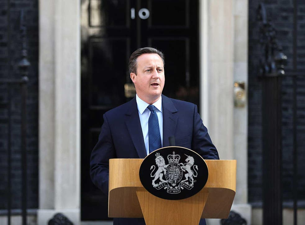 Tears welled up when David Cameron spoke of his love for the United Kingdom, yet he put his own job before the interests of the country