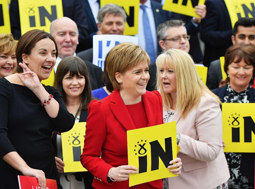 Nicola Sturgeon in Edinburgh during the IN campaign