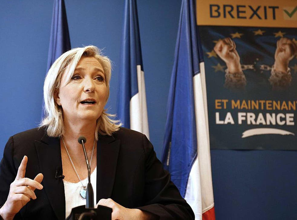 And now France? That's the hope of Marine Le Pen