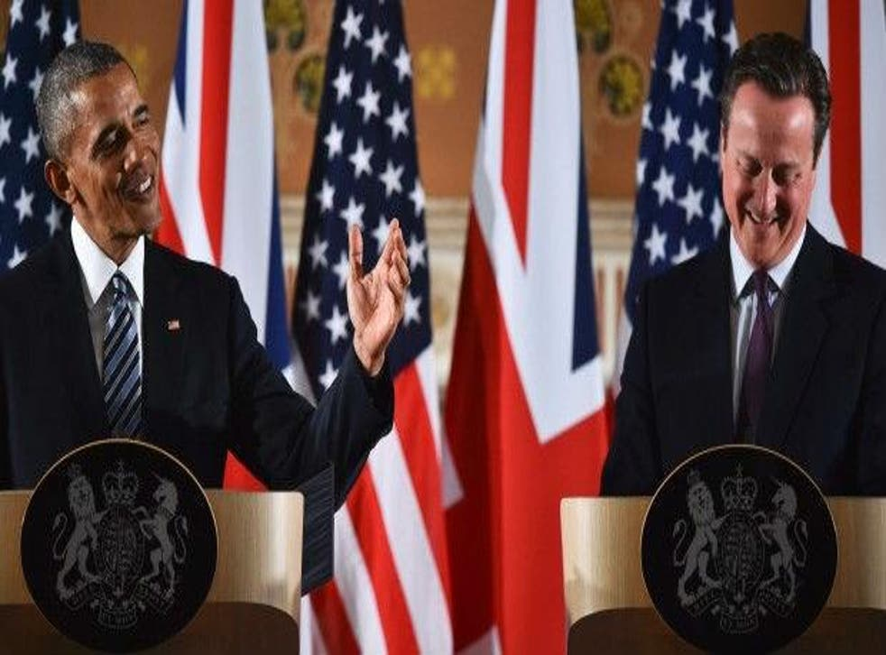 Mr Obama had entered the EU campaign at the request of David Cameron