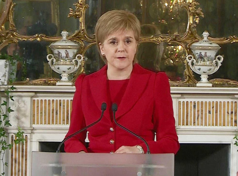 """Scottish First Minister Nicola Sturgeon described a second independence referendum north of the border as """"very much on the table."""""""