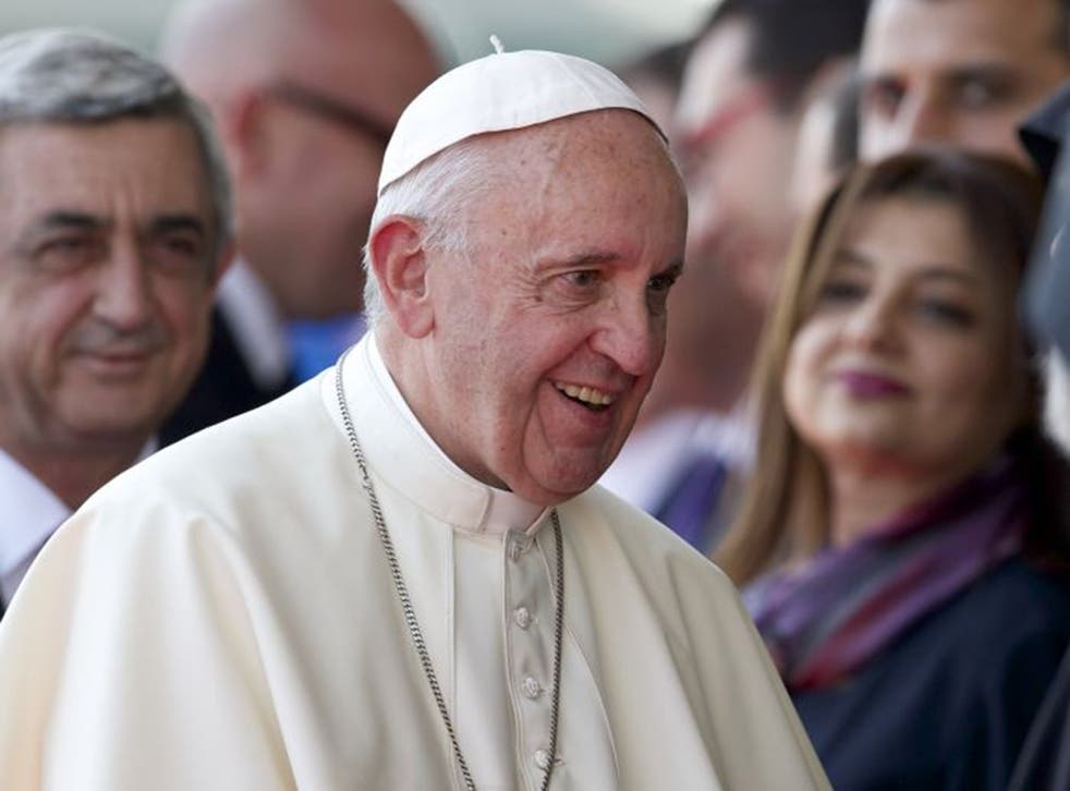 Pope Francis used the Armenian term for the genocide, 'Medz Yeghern', or 'the Great Evil' during his visit to Armenia